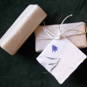 Homemade goats milk soap with teatree