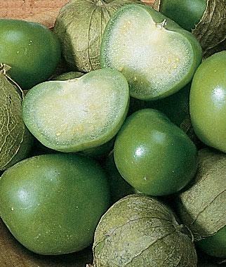 Heirloom tomitillo verde green seeds